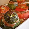 Tomates & courgettes farcies