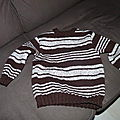 Pull rayé taille 4 ans