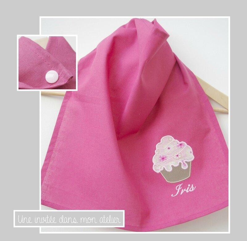 serviette de table-enfant-pression-Liberty-Toria rose