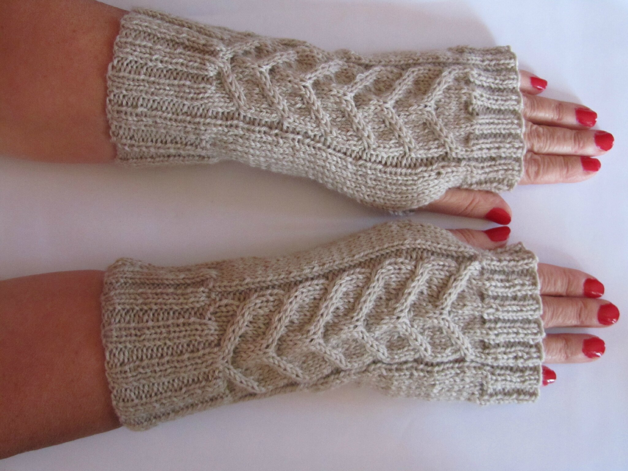 modele tricot mitaines torsade