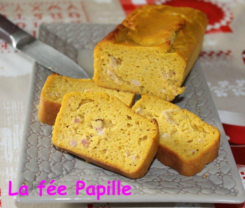cake potimarron lardons