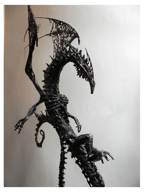 dragon / colle chaude , résine