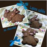 Sablés lapin au chocolat (scrap)