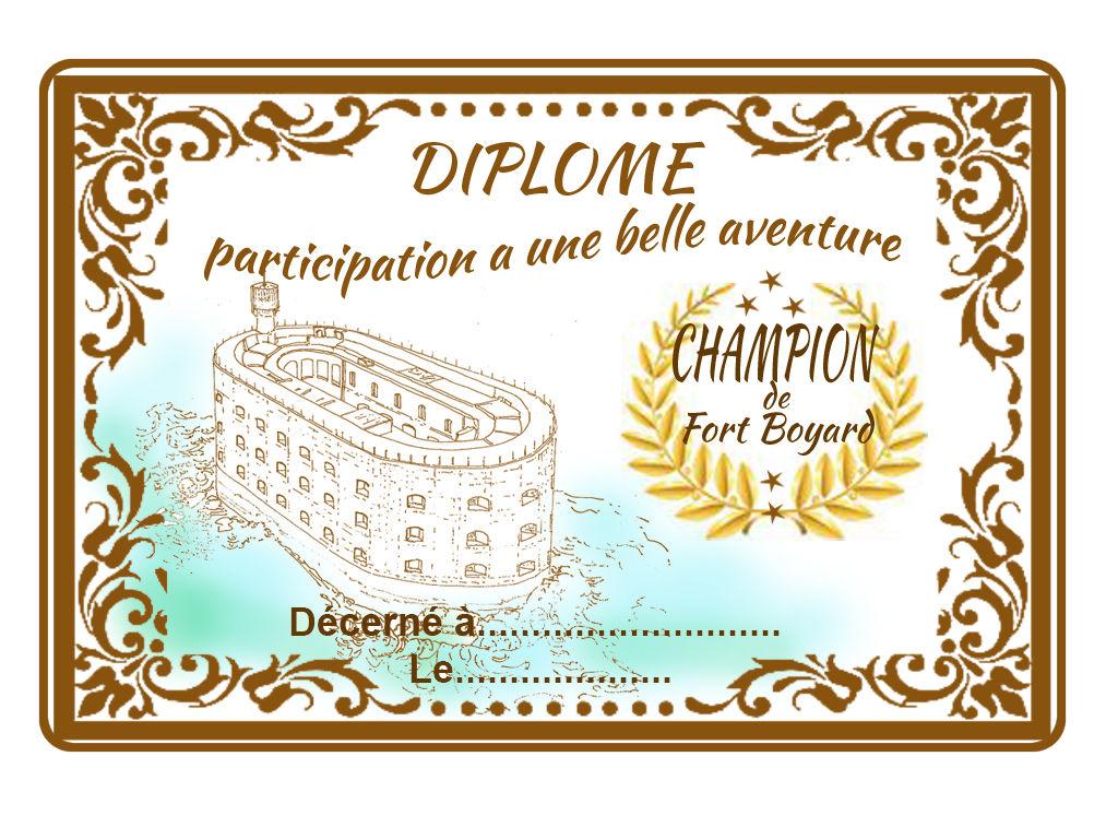 Diplome De Fort Boyard