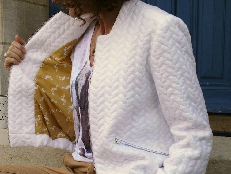 patron couture veste teddy