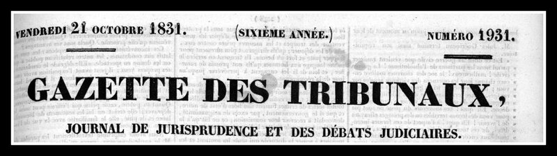gazette tribunaux