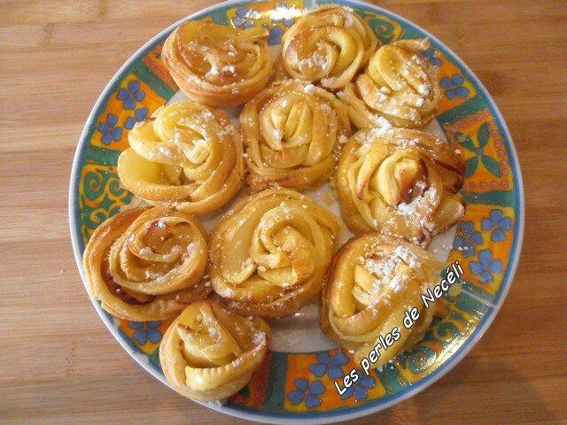 Roses feuilletées de pommes 01