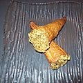 Cones aux fromage