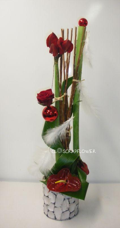 Cours d 39 art floral closcrapflower for Amaryllis pour noel