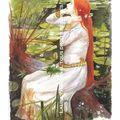 Aquarelle d'après un tableau de Waterhouse