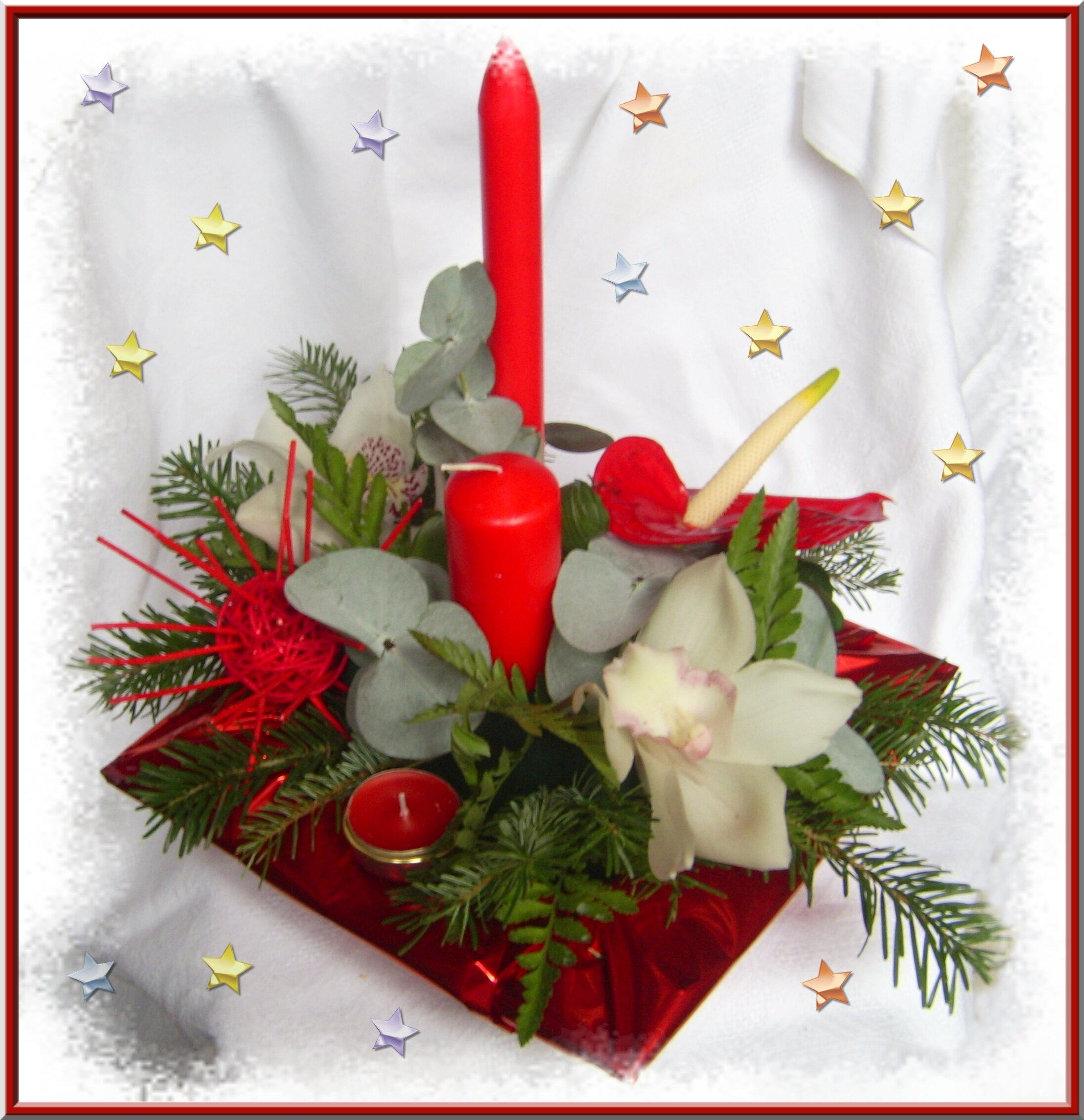 Deco florale pour noel for Decoration florale noel