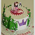 Gâteau anniversaire fée - nîmes