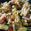Macaronis aux courgettes et chorizo