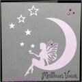 Une fée ... des étoiles ... une carte de voeux féminine et féérique !