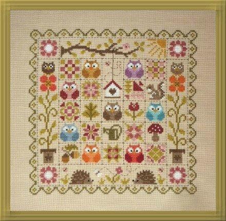 patchwork aux chouettes