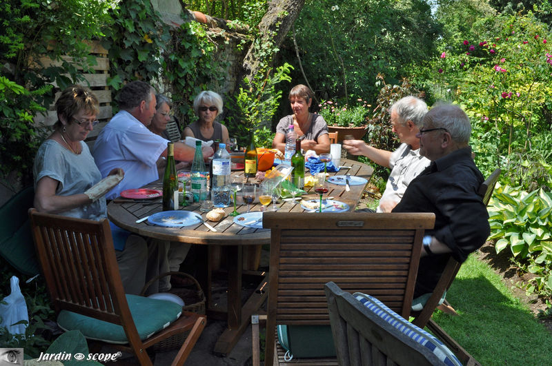 Moment convivial entre ami(e)s jardinautes