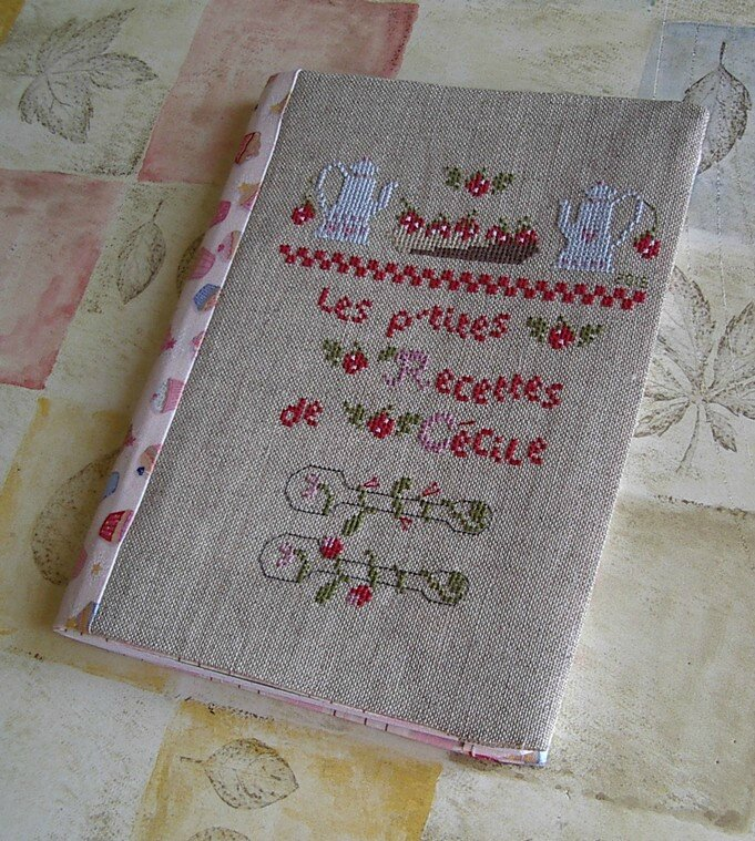 cahier recettes brode