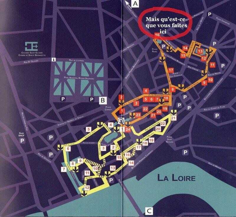 plan Nevers Ligne Bleue T