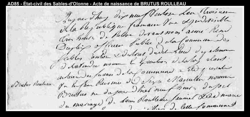 acte Brutus Rouleau