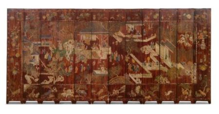 A_TWELVE_PANEL_BROWN_GROUND_COROMANDEL_LACQUER_SCREEN