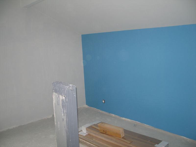 Tout schuss sur la couleur ciel mon chantier for Chambre mur rouge et gris