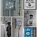 Création originale pour un mariage sur le thème de paris avec décor pour photobooth