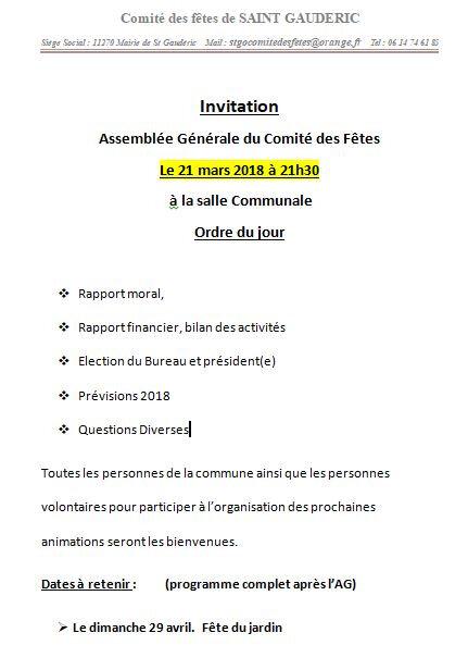 invitation AG 2018