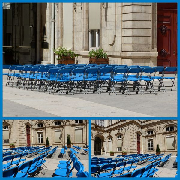 chaises bleues HdVLyo