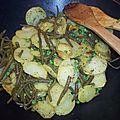 Saumon sauvage, poêlée de pommes de terre aux légumes verts