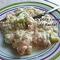 Risotto crevettes/courgettes au cook'in