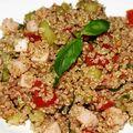 Taboulé de quinoa au basilic
