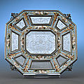Viennese Silver, Enamel & Rock Crystal Dish. Circa 1870