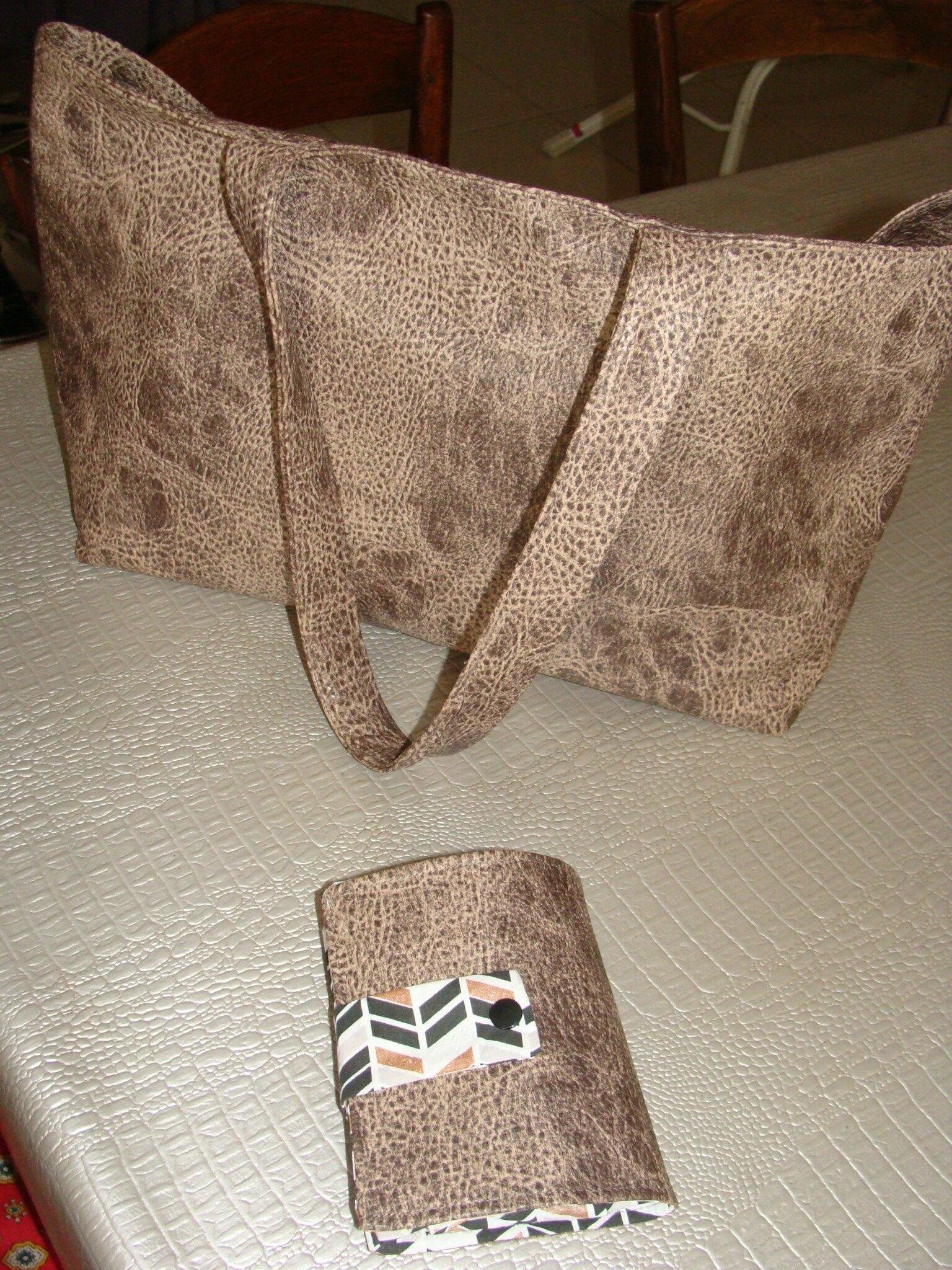sac pliable marron