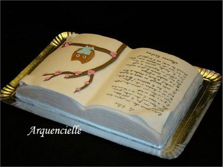 Gâteau hibou livre poème Maurice carême dos