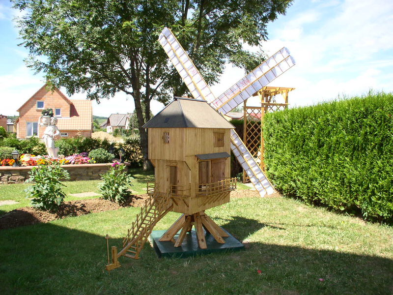 Le moulin vent patrick jagot cr ation for Moulin en bois pour jardin