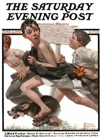 1921-6-4_No_Swimming_-_Norman_Rockwell