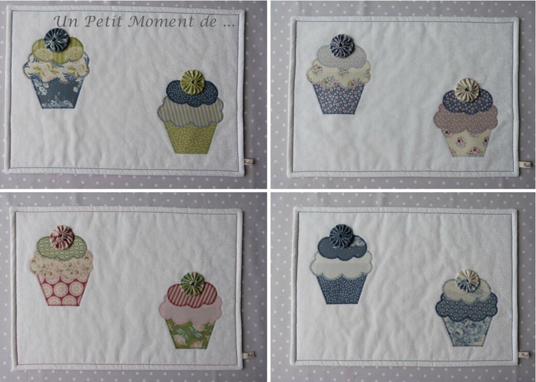 Ensemble de sets cupcakes 2