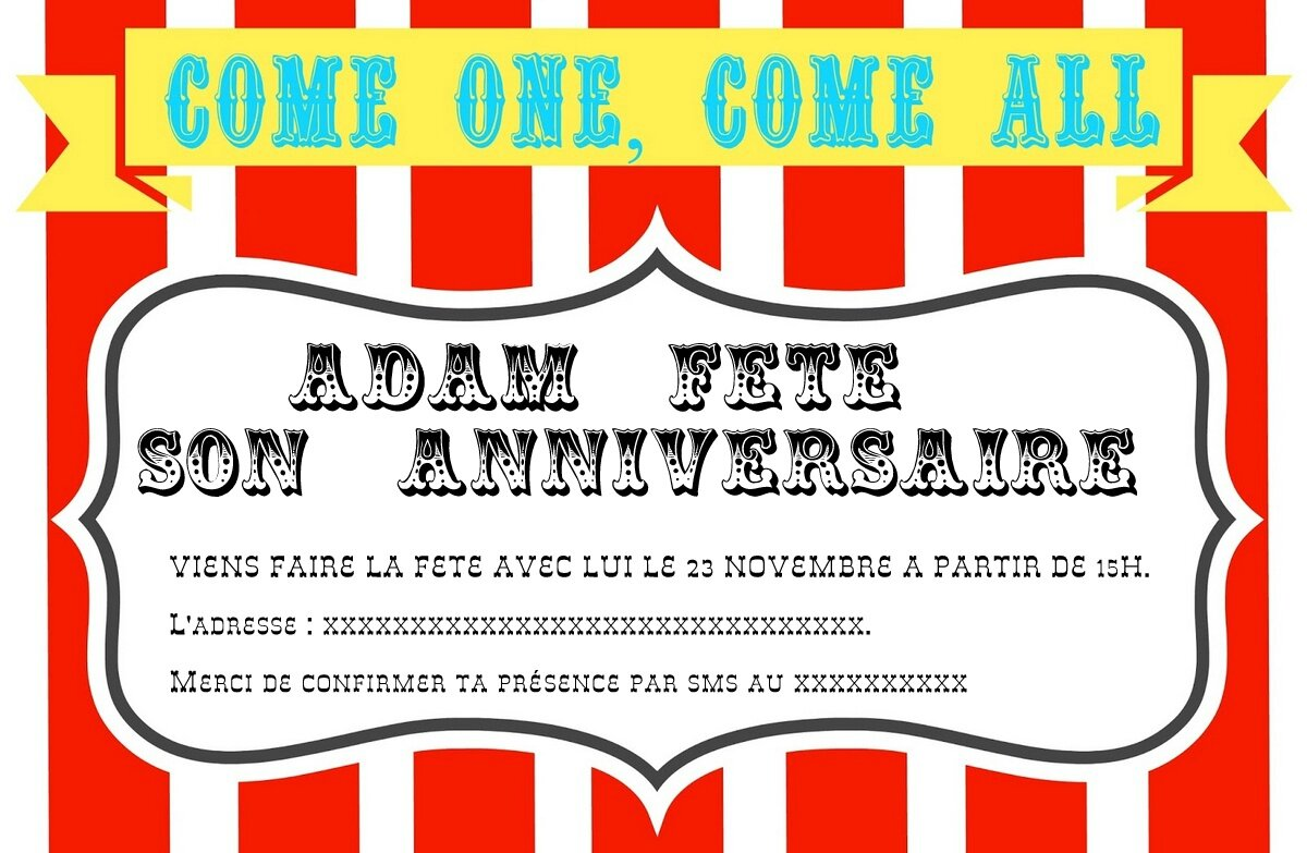Circus Invitation Ideas for luxury invitations layout