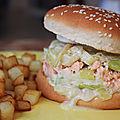 Burger saumon poireaux.