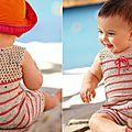 Combishort pour bébé et robe pour fillette