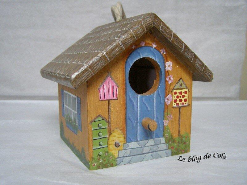 maison d 39 oiseaux 1 photo de peinture d corative le. Black Bedroom Furniture Sets. Home Design Ideas