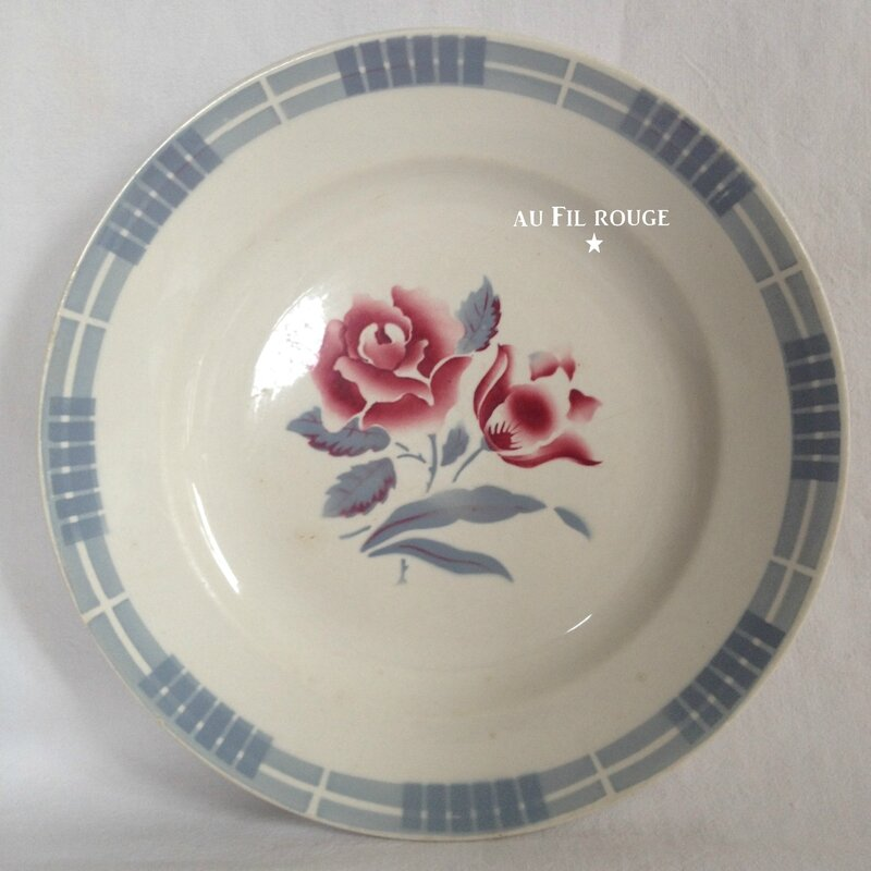 Assiette plate Troyes diam