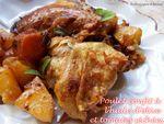 poulet confit à l'huile d'olive et tomates séchées