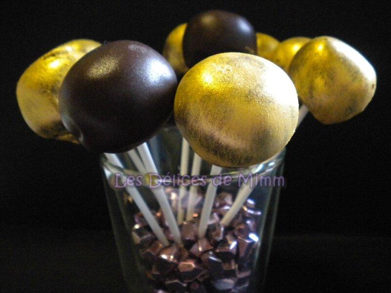 Cake pops dorés au foie gras et au chocolat 4