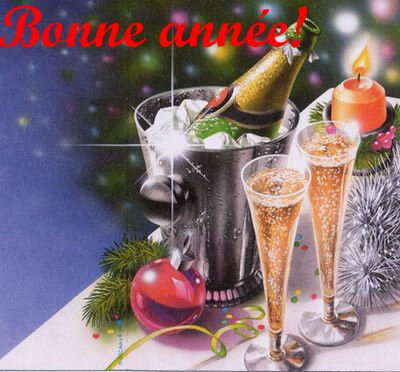 bonne année champagne