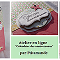 Préparez votre matériel et imprimez le calendrier pour le prochain atelier en ligne !
