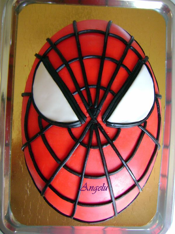 t te de spiderman 2 ma petite patisserie contact isilda. Black Bedroom Furniture Sets. Home Design Ideas