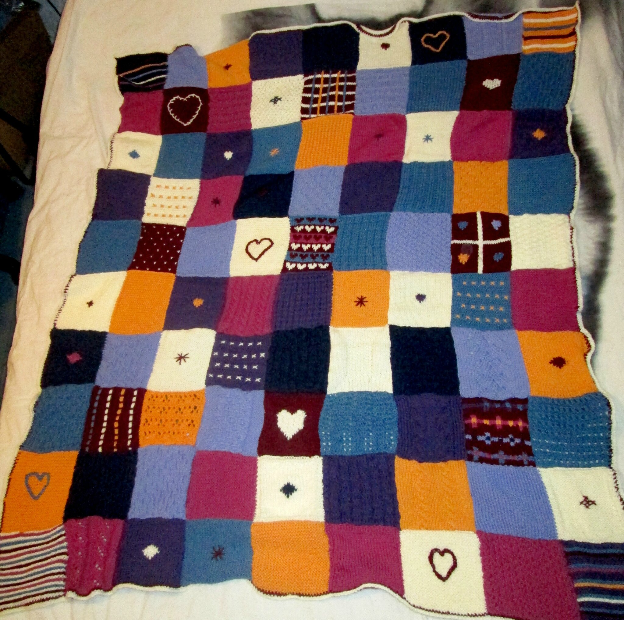 plaid fiches tricot hachette du fil des aiguilles des loisirs cr atifs. Black Bedroom Furniture Sets. Home Design Ideas