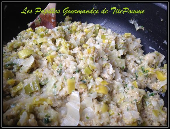 Quinoa au poireau parmesan & coriandre
