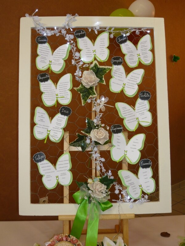 Plan de table mariage th me printemps et nature for Plan pour table de jardin